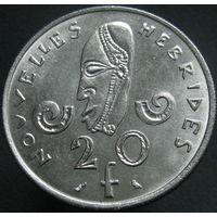Новые Гебриды 20 франков 1967 (а)