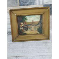 Старинная Картина Масло холст в Красивой Деревянной Раме