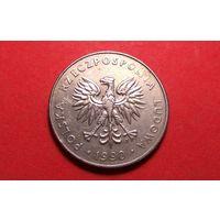 20 злотых 1990. Польша.