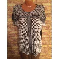 Шикарная блуза от LC waikiki стильной расцветки на 54-56 размер, отличный состав из вискозы и эластана прекрасно смотрится на фигурке. Длина 71 см, ПОгруди 58 см. Идеальное состояние.