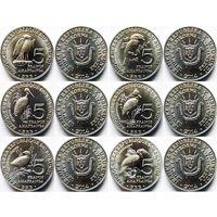 Бурунди набор 6 монет 2014 Птицы UNC