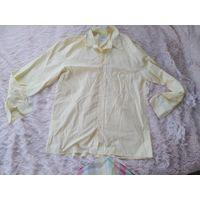 Рубашка стильная желтая р. 50-52