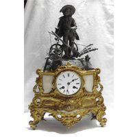 Часы каминные Часы настольные Подчасник Франция Poton Paris 1830 год Под реставрацию