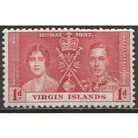 Виргинские острова. Король Георг VI и королева Елизавета. 1937г. Mi#69.
