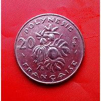 89-17 Французская Полинезия, 20 франков 1983 г. Единственное предложение монеты данного года на АУ