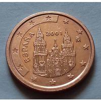2 евроцента, Испания 2001 г., AU