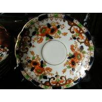 Набор тарелок антикварные кобальт Англия ручная роспись