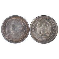 Германия (III Рейх). 5 марок 1936 г. Берлин [А]