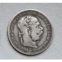 Австро-Венгрия 1 крона 1899 года. Серебро