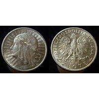 2 злотых 1933  (3) превосходное коллекционное состояние, полный штемпельный блеск, люстр