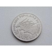"Конго. 100 франков 1972 год KM#1  ""Африканская антилопа"""