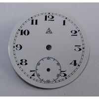 """Эмалевый циферблат на карманные часы  """"Alpina"""" Швейцария. Диаметр 4 см. 20-е годы."""