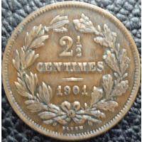 Люксембург 2,5 сантима 1901 года