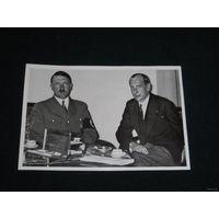 Открытка-вкладыш А. Гитлер, III рейх, оригинал. ТОРГИ! С 1 РУБЛЯ!