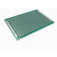Монтажная макетная плата 50х70мм (стеклотекстолит, двухсторонняя с металлизацией )