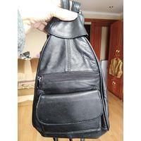 Рюкзак кожа черный