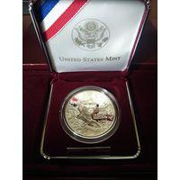 Монета США 1 доллар Серебро 1999 Proof