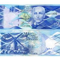Барбадос 2 доллара 2013 год   UNC