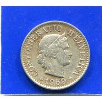 Швейцария 5 раппен 1959