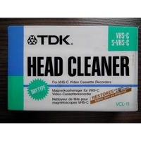 TDK VCL-11 Head Cleaner Чистящая кассета VHS-C s-VHS-C