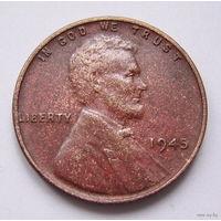 США  цент 1945г.  (б/б)