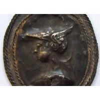 Медальон - Искандер Двурогий.. Бактрия..  СЕРЕБРО
