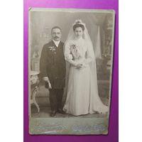 """Кабинет-портрет """"Свадьба"""", фот. Миранский, Минск, до 1917 г."""