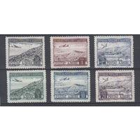 Самолет над горами. Албания. 1950. 6 марок (полная серия). Michel N 489-494 (45,0 е)