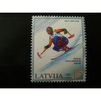 Латвия. 2002г. Паралимпиада.
