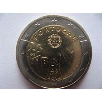 Португалия 2 евро 2014г. 40 лет Революции гвоздик. (юбилейная) UNC!