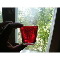 Набор бокалов стаканов Германия красное стекло