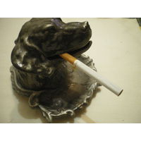 "Пепельница - статуэтка ""Голова собаки"", силумин. Люкс!"