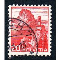 31: Швейцария, почтовая марка, 1936 год, номинал 20с, SG#375A