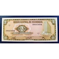 РАСПРОДАЖА С 1 РУБЛЯ!!! Никарагуа 2 кордоба 1972 год UNC