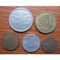 Финляндия. Набор монет.