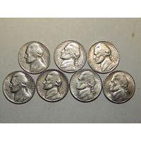 США 5 центов (список)