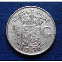 Нидерландская Индия 1/4 гульдена 1938