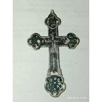 Крест большой до 1917 года серебро 84 АС . 5/3 см.