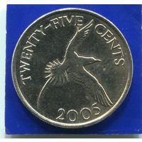 Бермудские острова , Бермуды 25 центов 2005