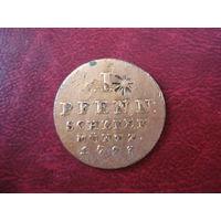 1 пфенниг 1793 года Ганновер PJM (СОСТОЯНИЕ!!!) RR