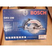 Пила циркулярная Bosch Professional GKS 190+новый пильный диск Bosch 190*30  Optiline wood 48 зубьев