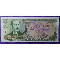 5 колон Коста Рика 1989 г.