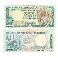 Банкнота Руанда 1000 франков 1988 UNC ПРЕСС