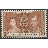 Виргинские острова. Король Георг VI и королева Елизавета. 1937г. Mi#70.