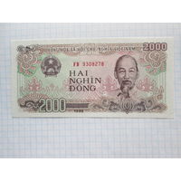 ВЬЕТНАМ  2000 ДОНГОВ 1988 ГОД  UNC