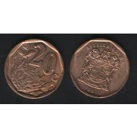 Южная Африка (ЮАР) km162 20 центов 1997 год (b06)