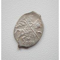 Копейка Бориса Годунова (1598-1605 года) Знак: HPBI м.д.Новгород ГК231 - Год чеканки: 1604, в блеске.