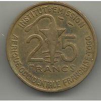 АВТОНОМНАЯ РЕСПУБЛИКА ТОГО. 25 ФРАНКОВ 1957. ФАУНА. АНТИЛОПА