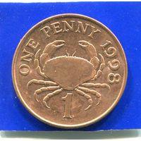 Гернси 1 пенни 1998