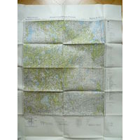 Огромная немецкая карта 1942г. Полоцк и окрестности. N-35-11,12,23,24